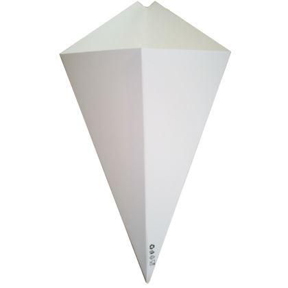 Rożki papierowe białe 350 ml 50 szt.