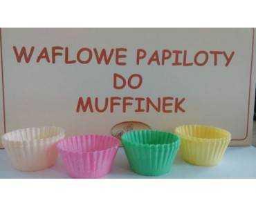 Papilotki wafl. do zapiekania mix kolorów 190 szt.